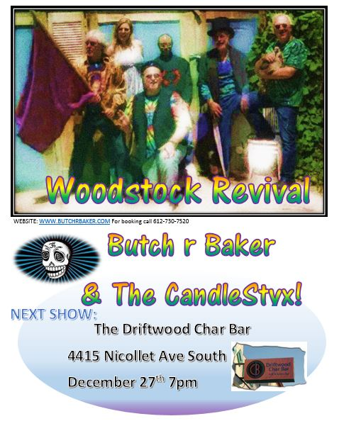 Butch R Baker and the CandleStyx  EPK PIC Next Show Char Bar